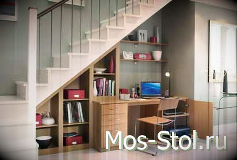 Шкаф под лестницей 14