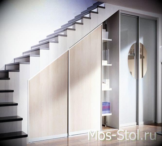 Шкаф под лестницей 16