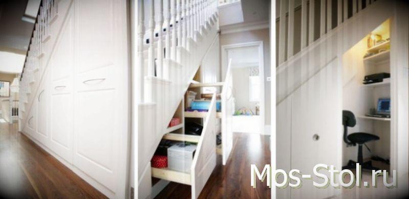 Шкаф под лестницей 18