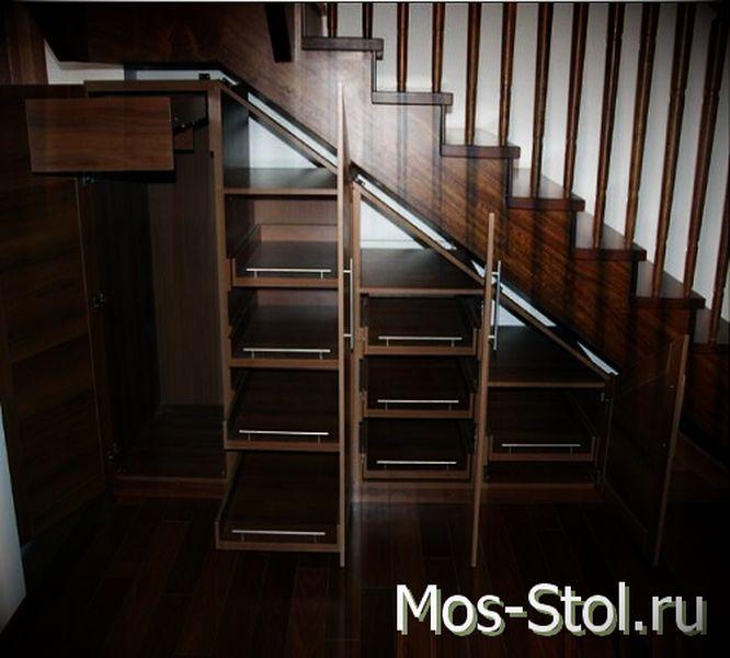Шкаф под лестницей 23