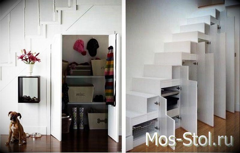 Шкаф под лестницей 15