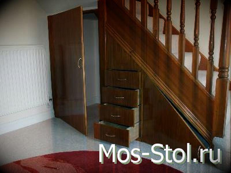 Шкаф под лестницей 6
