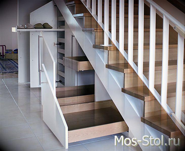 Шкаф под лестницей 7