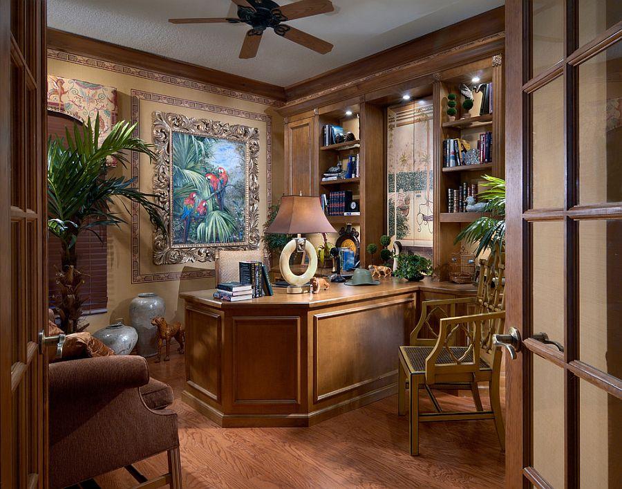 Мебель в кабинете изготовленная на заказ