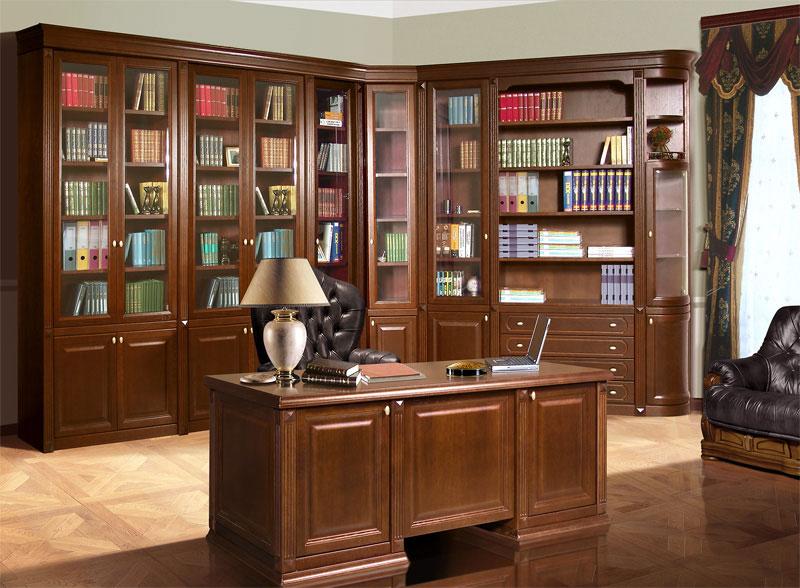 Проект мебели в рабочем кабинете, массив