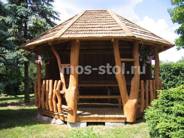 Беседка деревянная фото