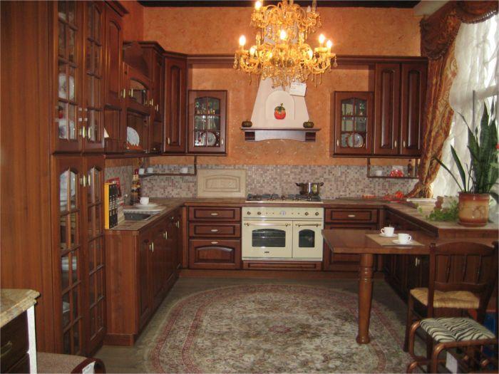Проект мебели кухни с темными наличниками