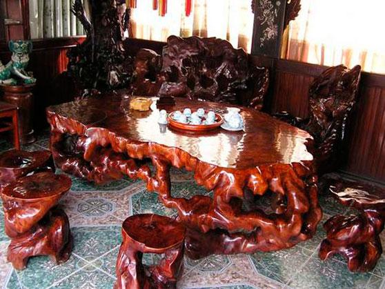 Проект мебели на заказ из необработанного дерева